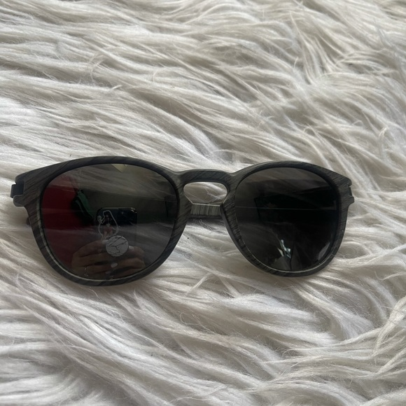 Oakley latch woodgrain sunglasses